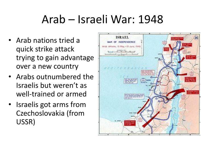 Arab – Israeli War: 1948