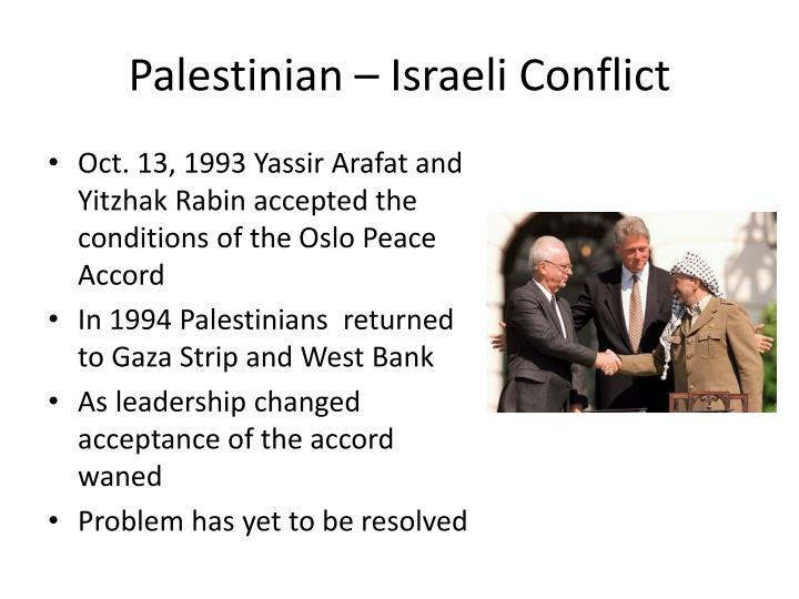 Palestinian – Israeli Conflict