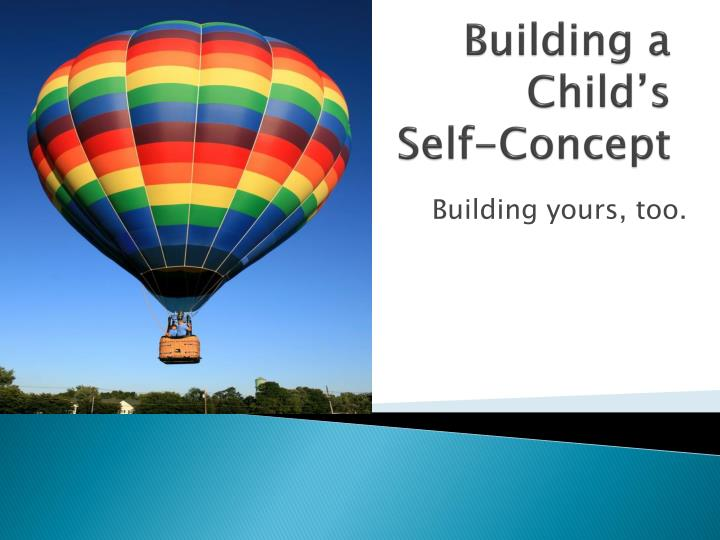 building a child s self concept n.