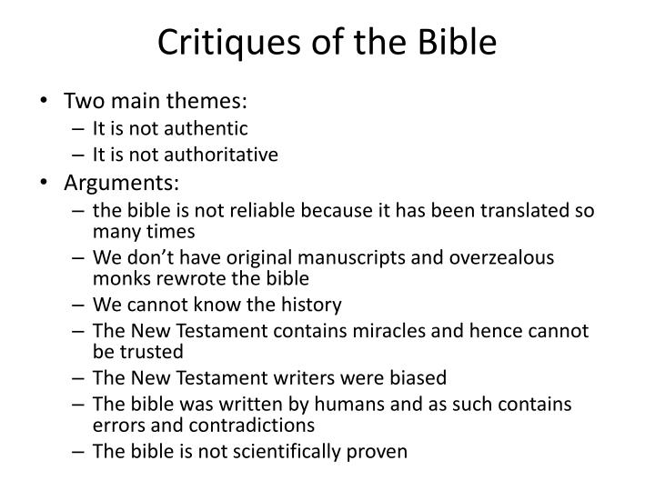 Critiques of the Bible