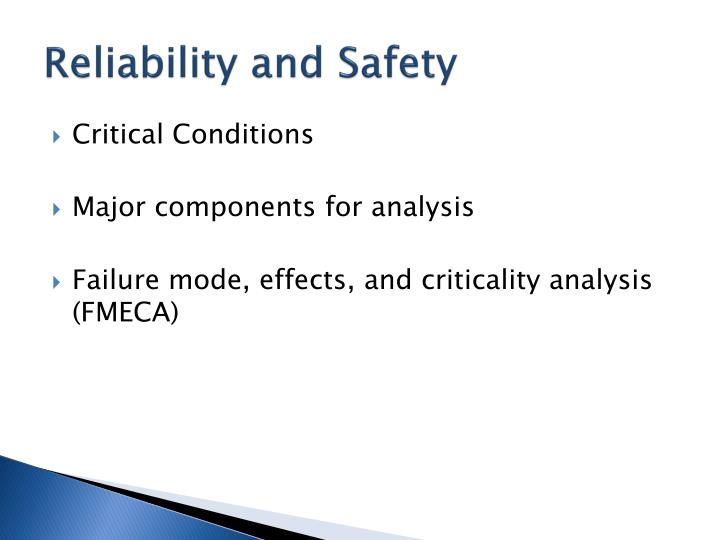 Reliability and Safety