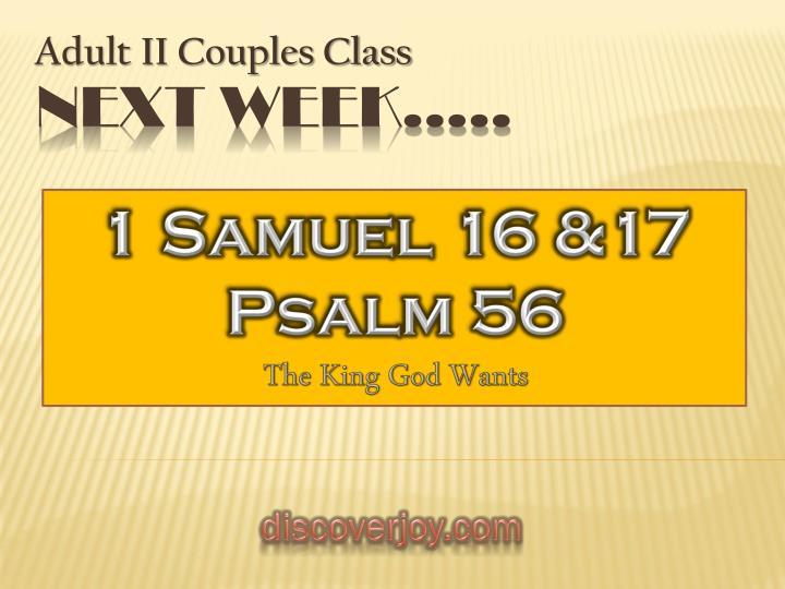 1 Samuel 16 &17
