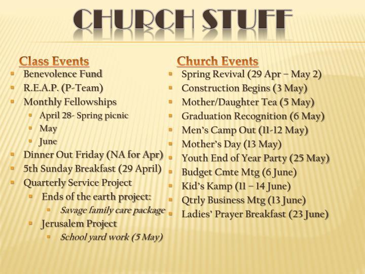 Church Stuff