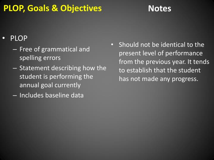 writing goals and objectives iep Developing measurable iep goals 2 do now activity consider the following statement: goals are not written, they are  write 3-4 benchmarks or objectives to.