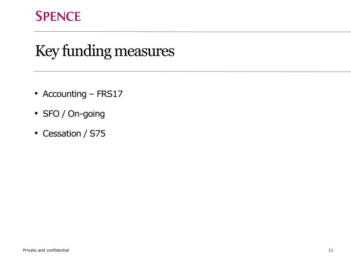 Key funding measures