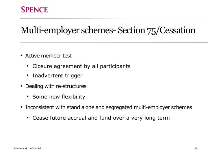 Multi-employer schemes- Section 75/Cessation
