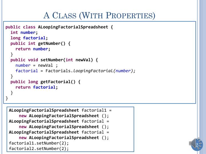 A class with properties