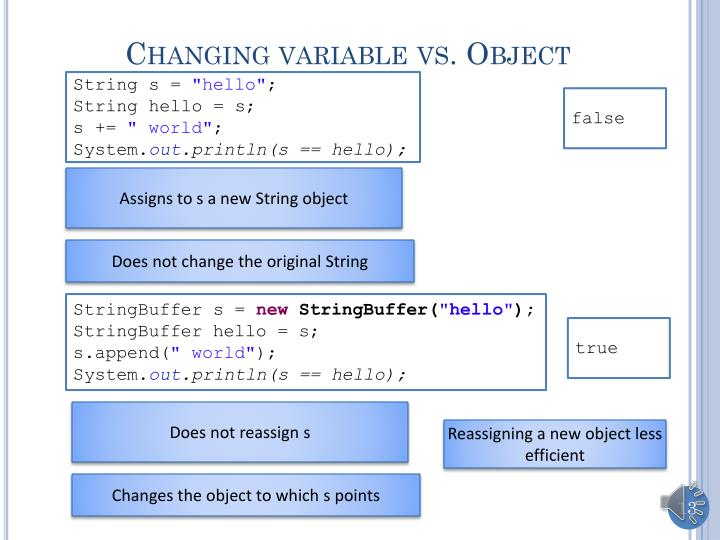 Changing variable vs. Object