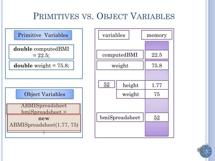 Primitives vs