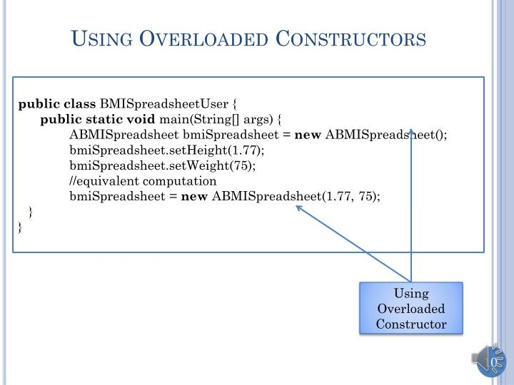 Using Overloaded Constructors