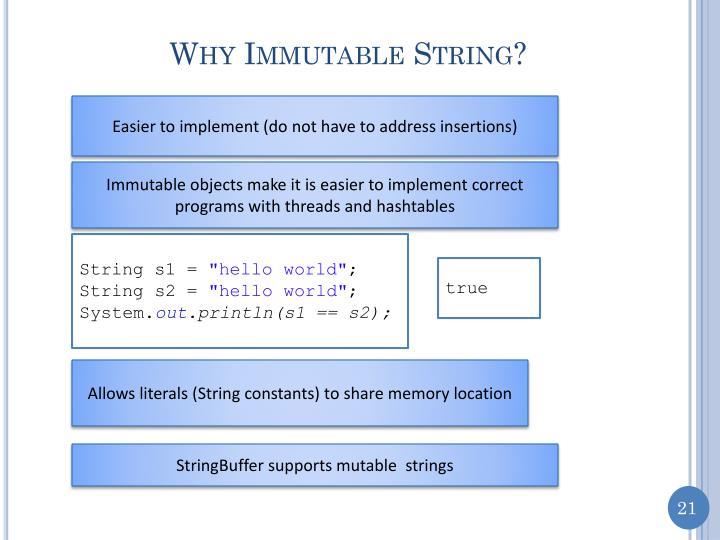 Why Immutable String?