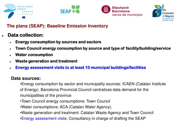 The plans (SEAP): Baseline Emission Inventory