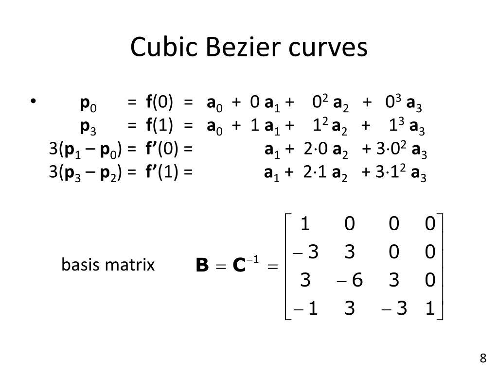 PPT - Splines III – Bézier Curves PowerPoint Presentation - ID:1956123