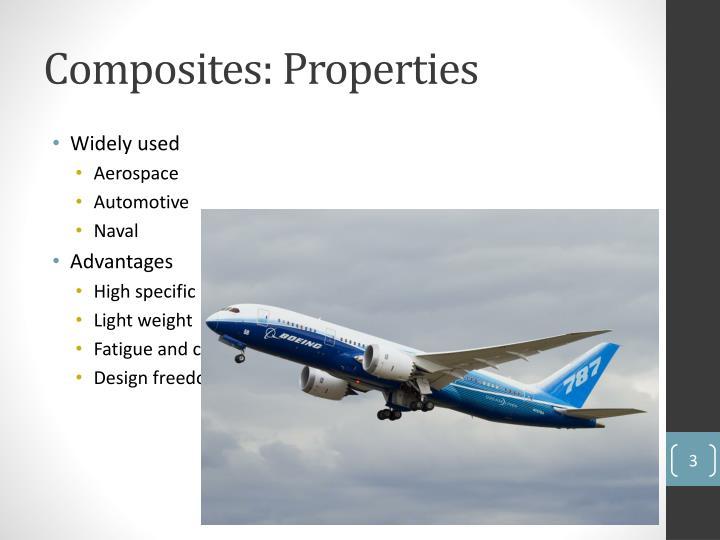 Composites properties