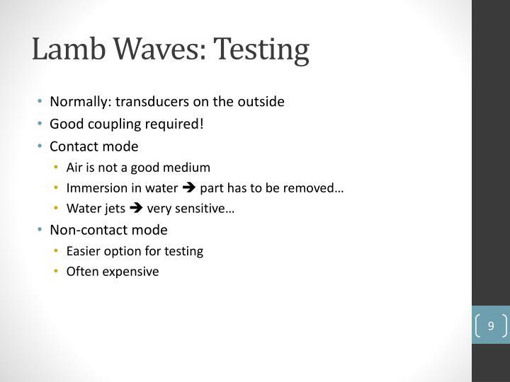 Lamb Waves: Testing