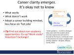 career clarity emerges it s okay not to know