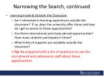 narrowing the search continued1