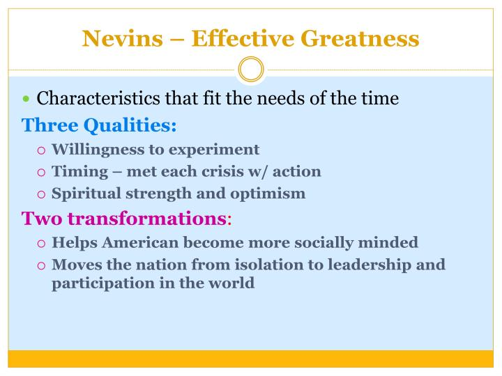 Nevins – Effective Greatness