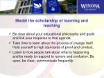 model the scholarship of learning and teaching1