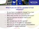 what if you are not in a position of real influence