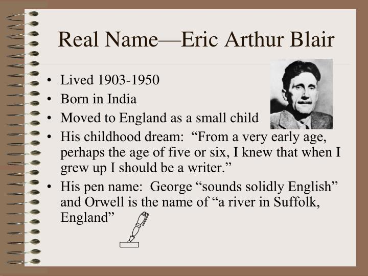 eric arthur blair biography