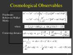 cosmological observables