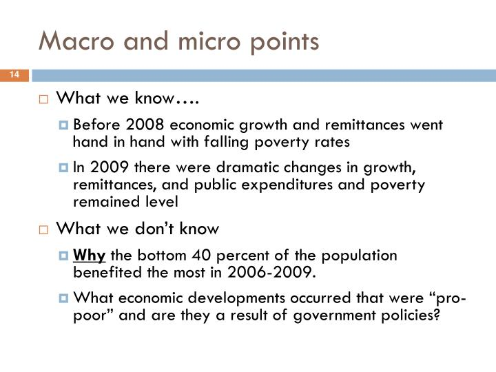 Macro and micro points