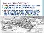 rural and urban differences1