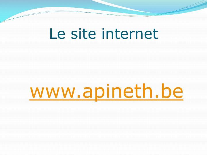 Le site internet