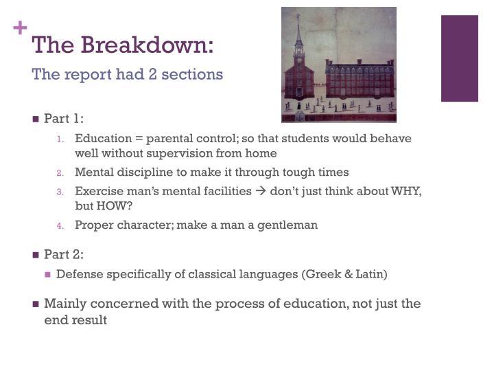 The Breakdown: