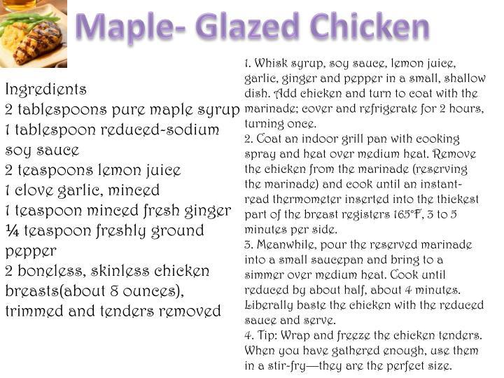 Maple- Glazed Chicken