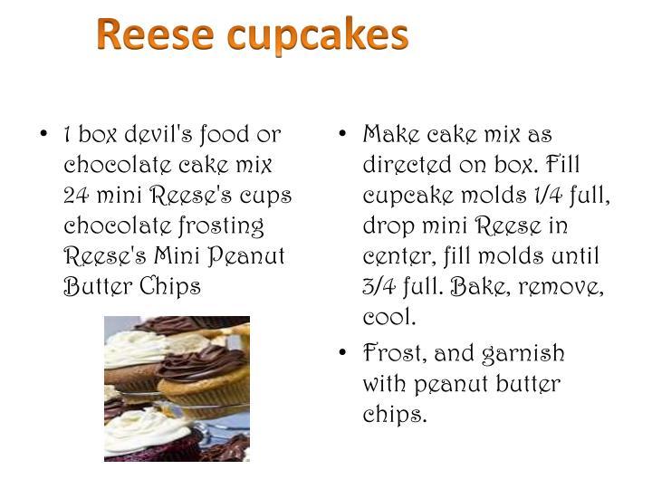 Reese cupcakes