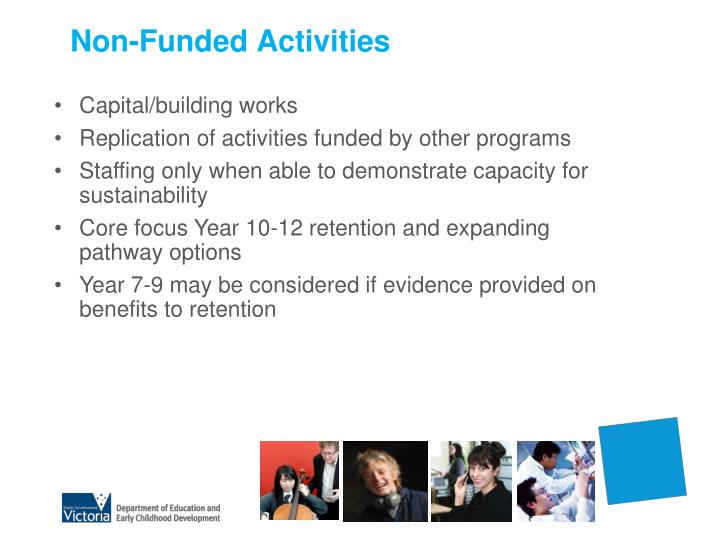 Non-Funded Activities