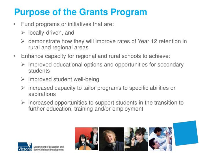 Purpose of the grants program