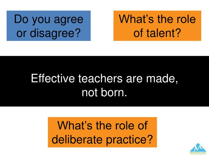 Effective teachers are made,