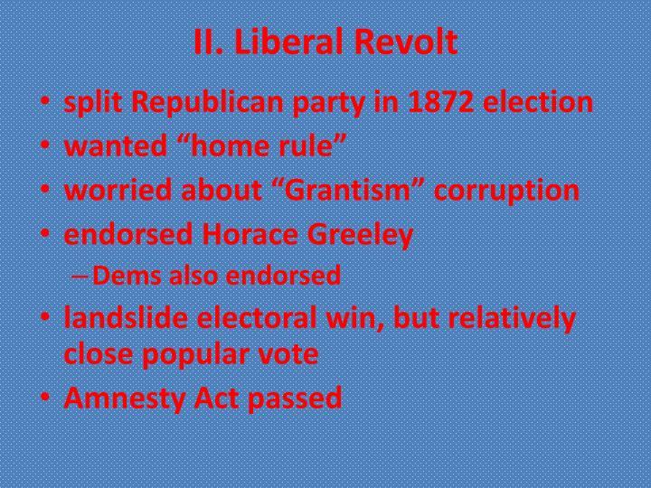 Ii liberal revolt