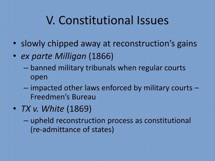 V. Constitutional