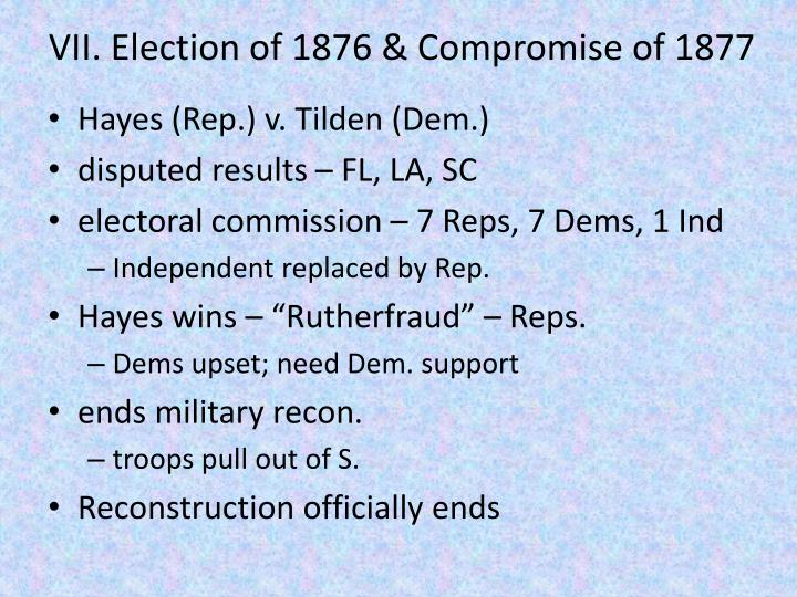 VII. Election