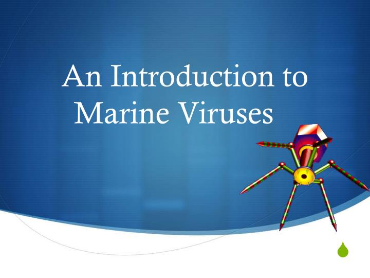 An introduction to marine viruses