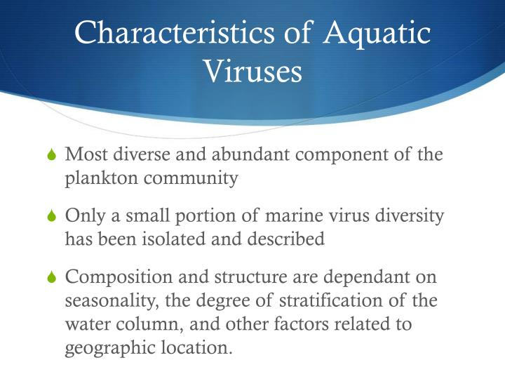 Characteristics of Aquatic Viruses