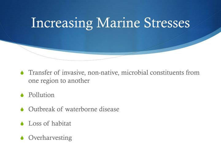 Increasing Marine Stresses