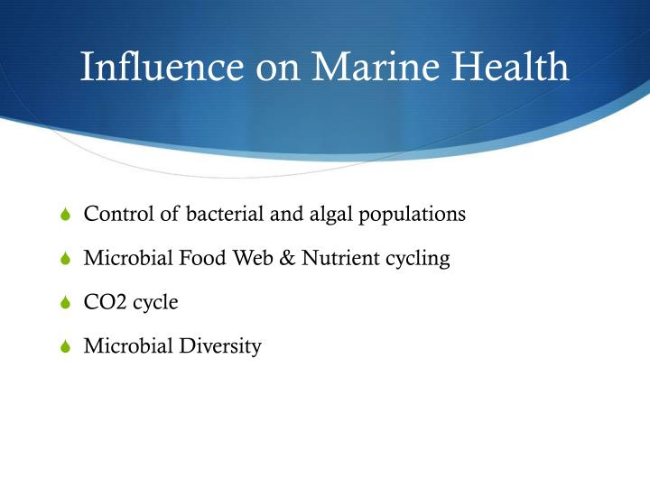 Influence on Marine Health