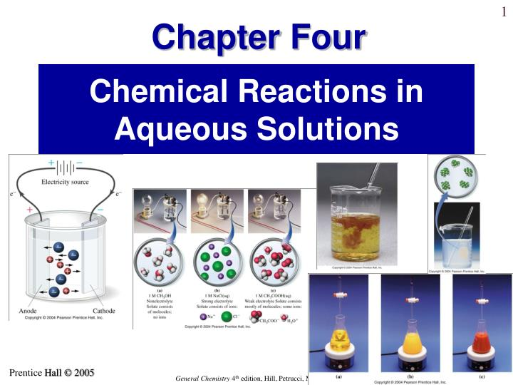 chemical reactions in aqueous solutions n.