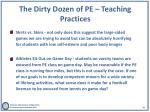 the dirty dozen of pe teaching practices2
