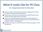 what it looks like for pe class 3d using a ssessment in instruction