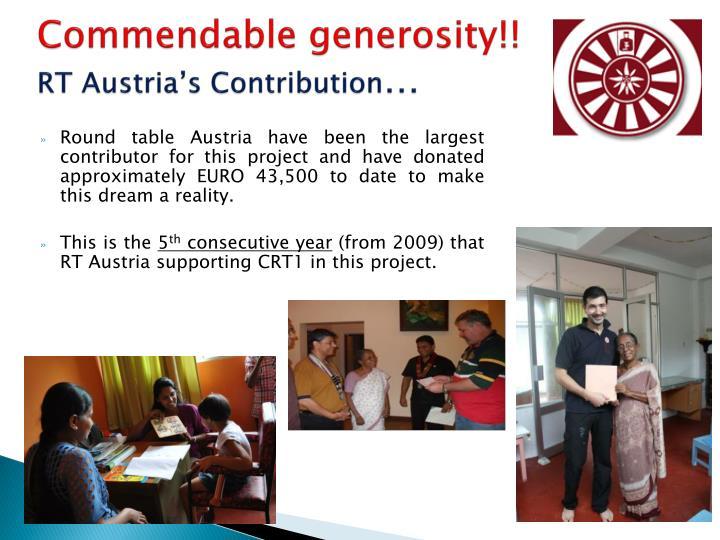 Commendable generosity!!