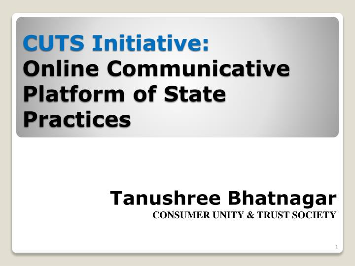 Cuts initiative online communicative platform of state practices