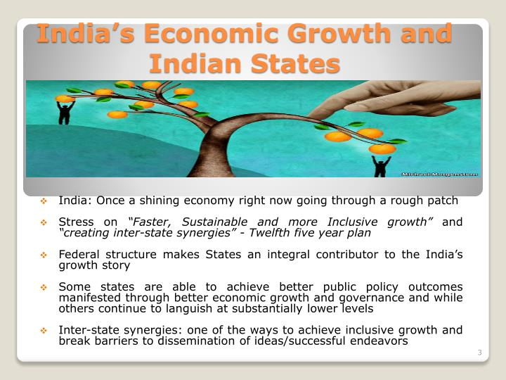 India s economic growth and indian states