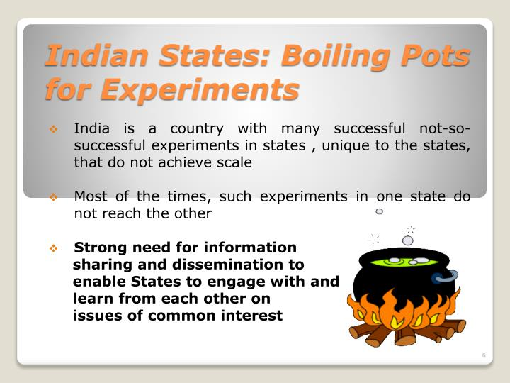 Indian States: Boiling Pots for Experiments