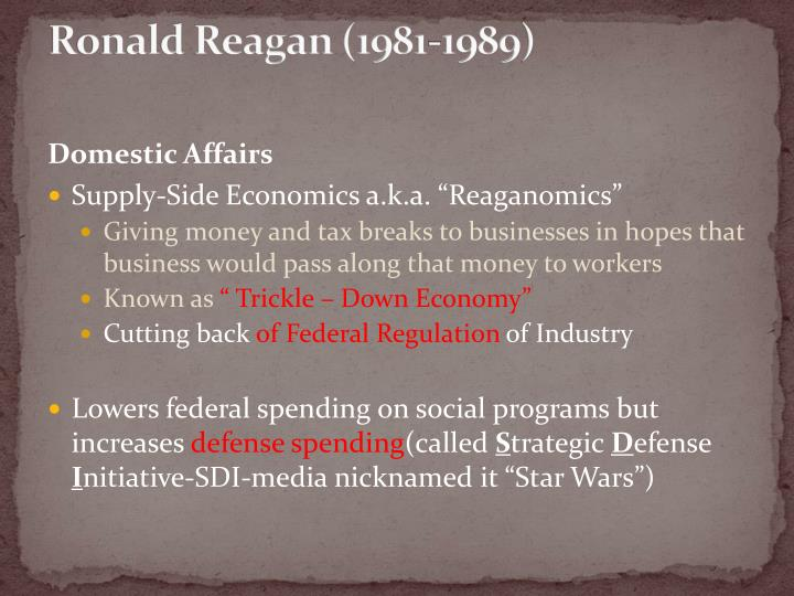 the flaws and failure of the supply side economics of ronald reagan Ronald reagan: worst president  he slashed income taxes for the wealthiest americans in an experiment known as supply side economics,  supply side would.